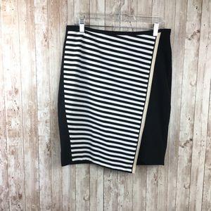 White House Black Market NWT Stripe Pencil Skirt